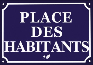 place des habitants
