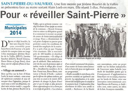 paru dans le ©  Paris-Normandie du 19 décembre 2013