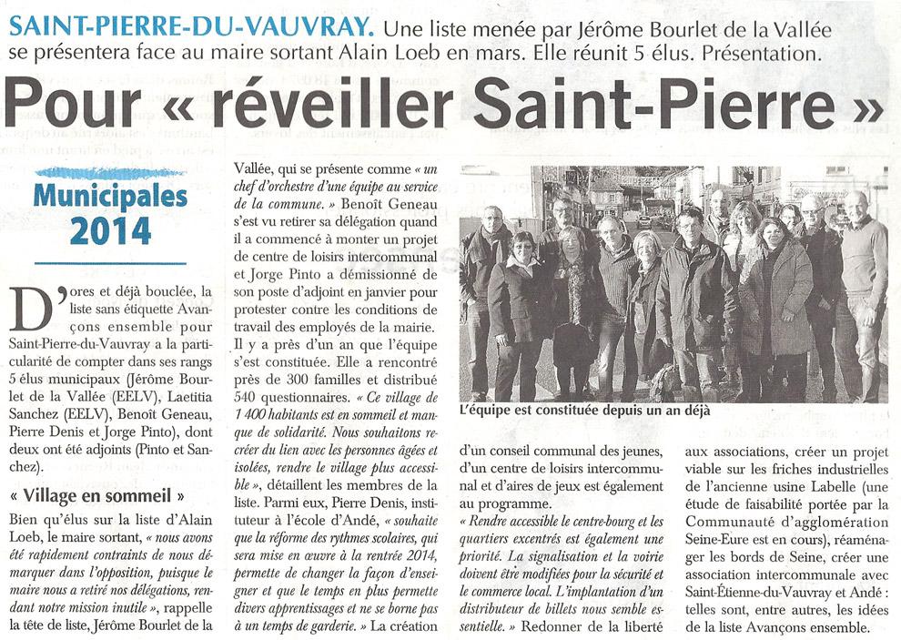 Pour réveiller Saint-Pierre-du-Vauvray