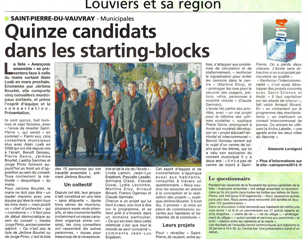 Quinze candidats dans les starting blocks